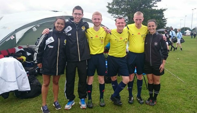 Rachel and Reyna with fellow officials Allister, Alan and Connor