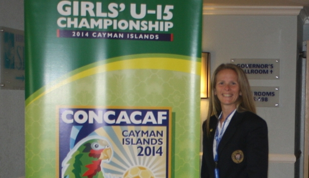 Jennifer Jones at the Girls' Under-15 Championships in the Cayman Islands