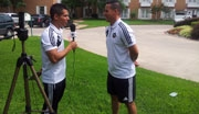 Armando Villarreal interviewing Jose Carlos Rivero
